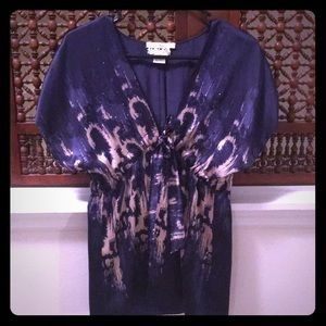 Blue Silk blouse